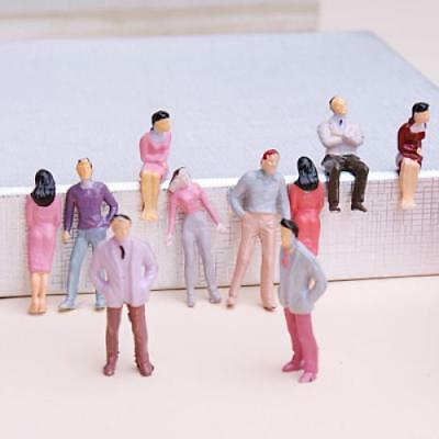 100 Painted Seated Standing People Figures Passengers Train Railway 1:50 O