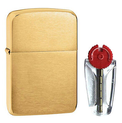 1941 Replica Zippo Lighter in Brushed Brass - FREE FLINTS & FREE P&P!