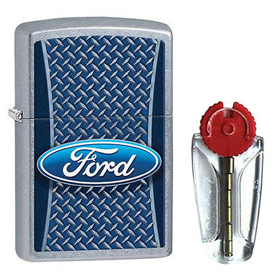 Ford Tyre Tread Zippo Lighter in Street Chrome 29065 - FREE FLINTS & FREE P&P!