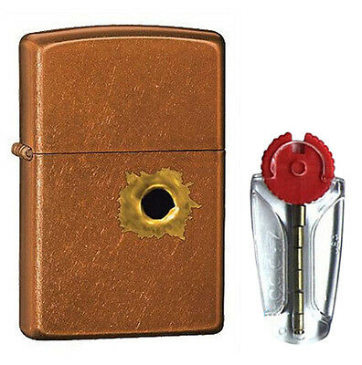 BS Bullet Hole Toffee Zippo Lighter 24717 - FREE FLINTS & FREE P&P!