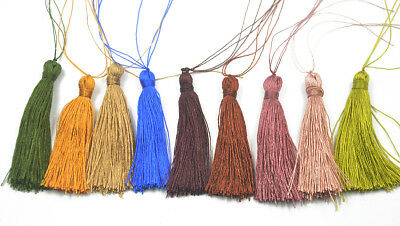 12 Mixed Nylon TASSELS IDEAL FOR CARDMAKING SCRAPBOOKING SEWING CRAFTS 60mm