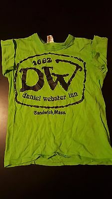 VTG 70s Youth Kids Daniel Webster Inn T-Shirt Sandwich Massachusetts Cape Cod