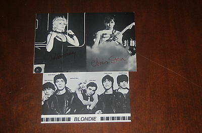 Blondie 3 postcard set Debbie Harry +Chris Stein Original 1979 Official Fan Club