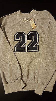 Vintage 80s NWT Youth Kids XL Tri-Blend No. 22 Sweatshirt Jersey Football USA