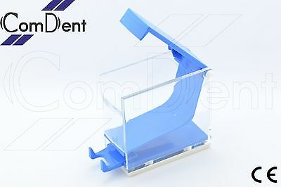 Dental Cotton Roll Holder  and Dispenser Press Type  Blue Color  CE New
