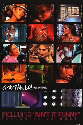 "MUSIC POSTER~Jennifer Lopez J-Lo ""J To Tha Lo"" 2002 Ja Rule The Remixes 24x36""~"
