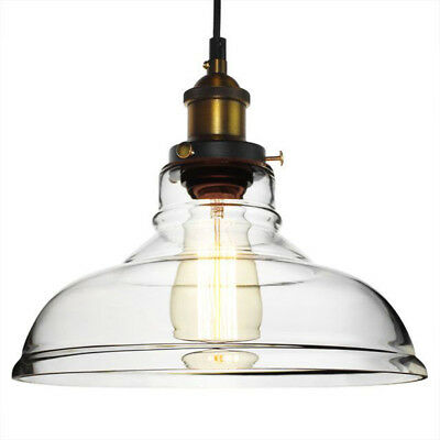 Modern Clear Vintage Glass Ceiling Lamp Shade Fixture Pendant Light Chandeliers