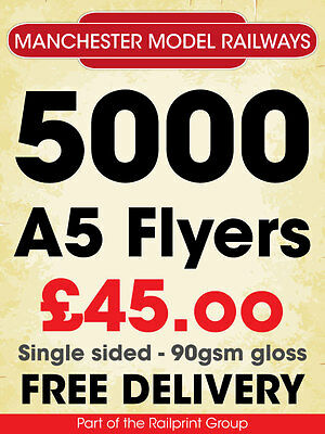 5000 A5 flyers or leaflets single sided FREE FILE CHECK BEFORE ORDERING