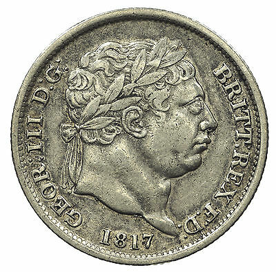 Great Britain, George Iii Shilling, Silver, 1817