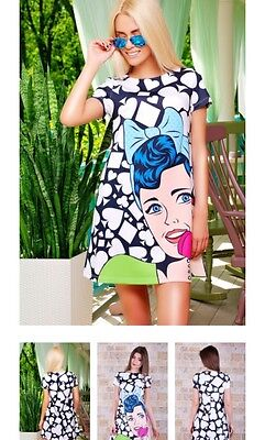 Trapeze dress with an original print,summer dress,beach dress