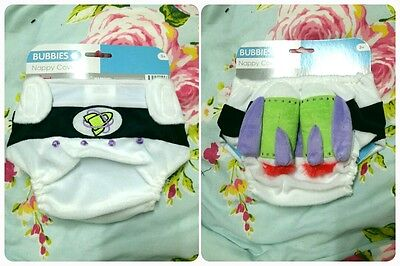 NEW baby boy buzz light year rocket bottom nappy cover gift size 3m+ approx 00
