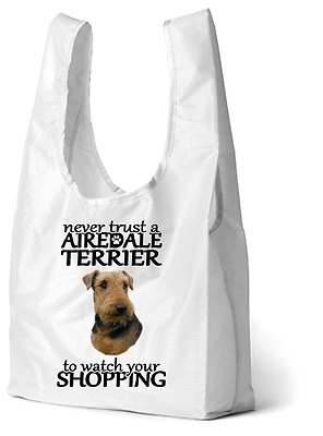 Airedale Terrier Dog Design Printed Eco-Friendly Foldable Shopping Bag SB2AIRE-2