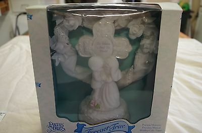 Precious Moments Porclain Musical Wedding Cake Topper Nice Beautiful