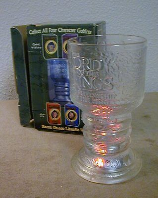 """Lord of the Rings Illuminated """"Gandalf"""" Glass Goblet -- REDUCED!!"""