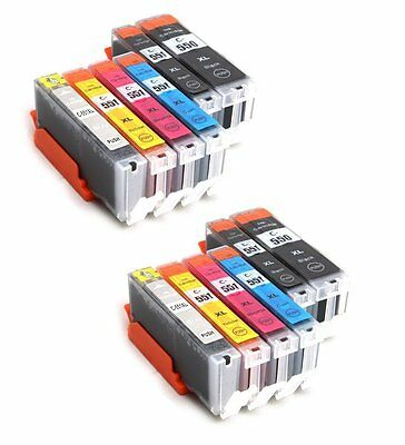 12 PGI-550 CLI-551 CANON Compatible Ink for Pixma MG5450 MG6350 IP7250 MG5550