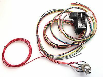 Street Rod Race Universal 14 Fuse 12 Circuit Harness Prewired to Ignition Switch