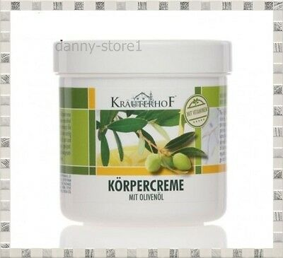 KRAUTERHOF Body Cream With Olive Oil, Shea Butter & Vitamines 250ml,ASAM Germany