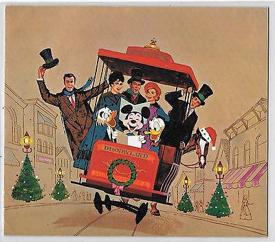 "Disney Greetings Card (Christmas) 1962 folds opens to a 1963 Calendar 16"" X 14"""
