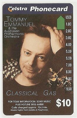 RARE Telecom Phonecard $10 Tommy Emmanuel Sony Music -** ERROR CARD** Unique