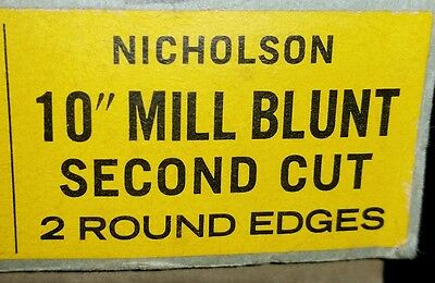 One Single 10 Inch Mill Blunt Second Cut Vintage Nicholson NOS File