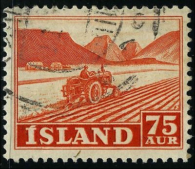 Iceland 1952 stamps tractor USED Mi 275 CV $0.57 160709059