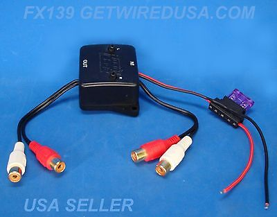 Rca Audio Amplifier Pre-Amp Adjustable Line Driver Signal Booster Ld10 Red White
