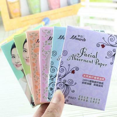 210 Pcs Natural Facial Tissue Makeup Blotting Oil Absorbing Papers Face Cleaner