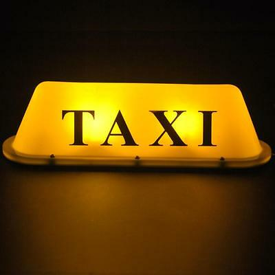 IZTOSS Yellow LED 12V Car Taxi Cab Roof Top Sign Light Lamp Magnetic Waterproof