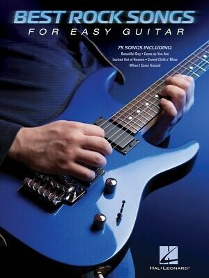 BEST ROCK SONGS For Easy Guitar Book *NEW* Sheet Music, 75 Songs