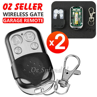 2x Universal Cloning Remote Control Key Fob for Car Garage Door Electric Gate OZ