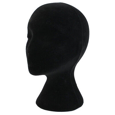 New Black Styrofoam Foam Mannequin Manikin Head Model Wigs Glasses Display Stand
