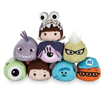 New Disney TSUM TSUM Monsters Inc. Mike Sullivan Mini Soft Plush Toys With Chain