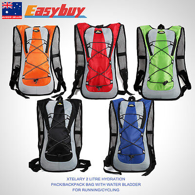 Xtelary For Running Cycle 2 Litre Hydration Pack Backpack Bag With Water Bladder