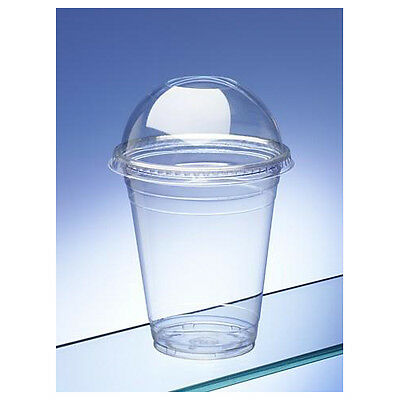 Smoothie Cups with Dome Lids Small 10oz / 280ml (pack of 50)