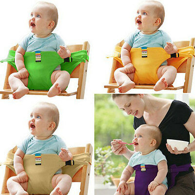 Baby Seat Portable Chair Cover Newborn Feeding High Chair Security Sling Strap