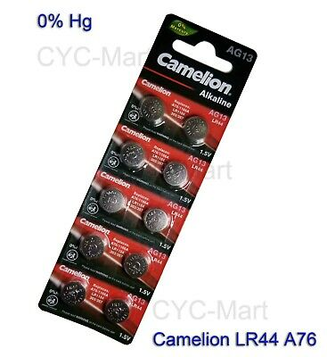 10 pcs Camelion LR44 Batteries AG13 A76 Brand New FREE POST worldwide New 2010