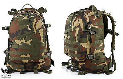 DPM Military Backpack /Woodland Camo Tactical Molle Rucksack 45 Litre Hiking Bag