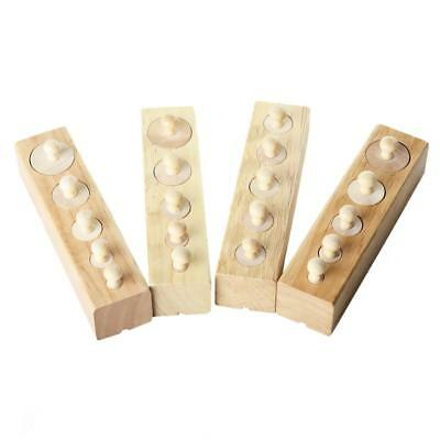 FULL Set of 4 MONTESSORI Wooden Knobbed CYLINDER BLOCKS SENSORIAL Material