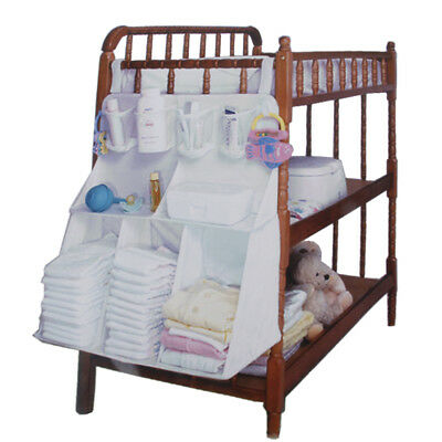 Baby Bed Hanging Storage Bag Organizer Toy Diaper Pocket for Crib Bedding