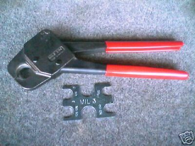 "3/4"" Pex Crimper Plumbing Compact Crimp Tool By Mil 3 ""made In Usa"""