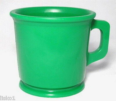 William Marvy Shaving Mug for cake soap Green Rubber