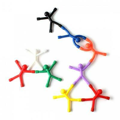 9PCS 9 Colors Mini Magnet Q-Man Novelty Awesome Gift Cute Rubber Magnet Man Toy