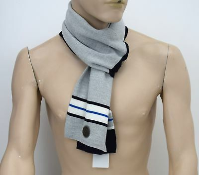 Armani Junior Boy Scarf Blue And Light Grey Acrylic And Wool Code S4408