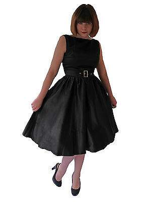 Vintage 1950's 1960's Black Prom Evening Party Cocktail Dress Audrey Hepburn