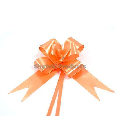 10 X 30mm ORANGE Pull Bows Wedding Anniversary Floral bouquets Gift decorations