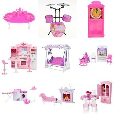 Doll House Miniatures Furniture Accessory Pretend Play Set for Barbie Kelly Doll