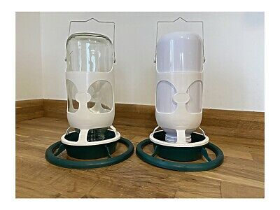 1kg & 1L Hanging Feeder & Drinker For Cage Aviary Finches/ Canary/ Budgie/Birds
