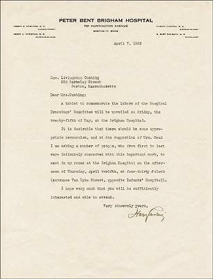 Harvey W. Cushing - Typed Letter Signed 04/07/1923