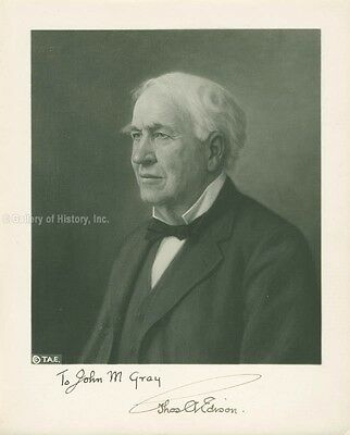 Thomas A. Edison - Inscribed Photograph Signed