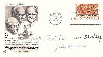 William Shockley - First Day Cover Signed With Co-Signers